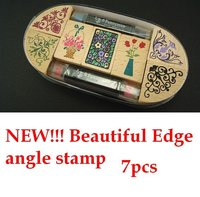 Wholesale Stamps Beautiful Classical Angle Stamp To DIY Photo Album Scrapbook Ancient Stamp 7pcs Stamp 2pens