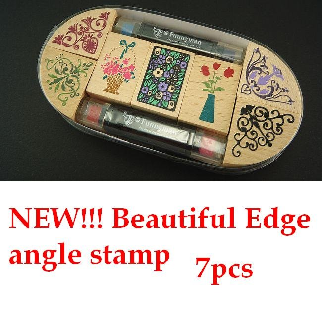 Wholesale stamps, beautiful classical Angle stamp to DIY photo album, scrapbook ancient stamp. 7pcs stamp + 2pens, Free Shipping jwhcj vintage cat date wood roller stamps for children diy handmade scrapbook photo album diary book decoration students stamps