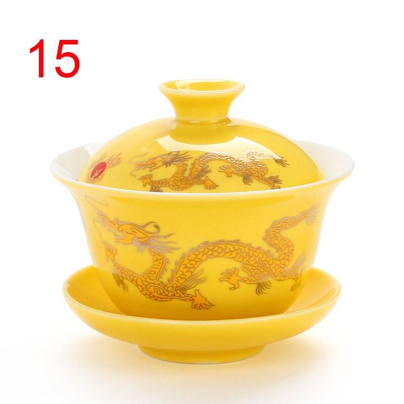 Traditional China Bone Gaiwan Bowls 3
