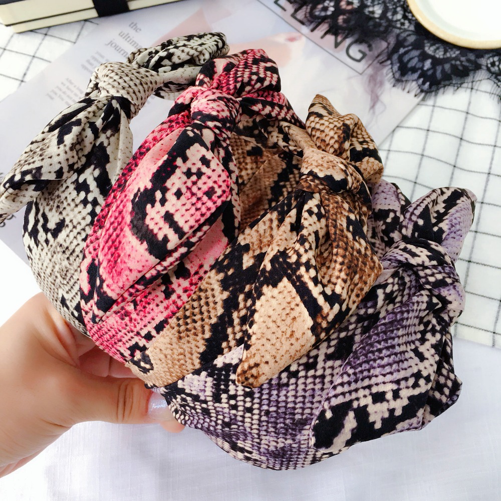 Apparel Accessories Korea Fabric Snake Skin Pattern Hairbands Diamond Plaid Hairband Crown Headbands For Girls Butterfly Bows Hair Accessories Various Styles