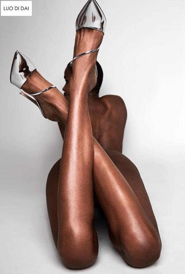 Fourrure noir En Verni Cuir Soirée Nouveau rouge Beige Brides gris Mariage Pompes Talon Boucle Chaussures 2019 Hauts À or De argent Plume Mince Doux Femmes Talons Ap1Ozq
