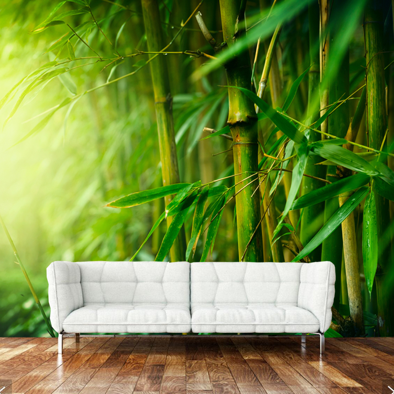 3D modern art wallpaper, bamboo forest natural landscape murals for living room bedroom sofa backdrop home decoration wallpaper custom green forest trees natural landscape mural for living room bedroom tv backdrop of modern 3d vinyl wallpaper murals