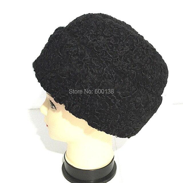 Новый стиль, мода зима полный каракульских овец меховая шапка для мужчин