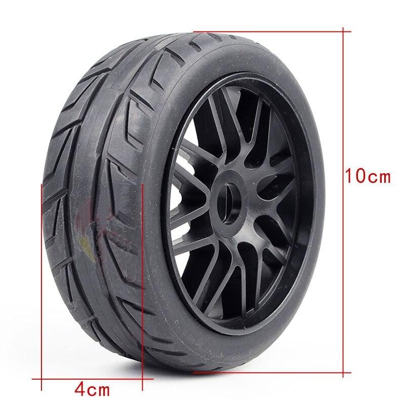 4 STUKS Tire 100mm x 40mm Tyre Wheel voor RC 1/8 Auto Model 1:8 Buggy Op  roard Crawer Auto DIY Onderdelen-in Onderdelen & accessoires van Speelgoed & Hobbies op  Groep 2