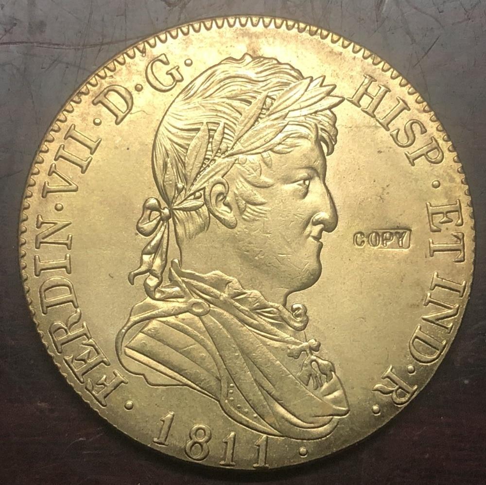 1811 Spain 8 Escudos - Fernando VII Gold Copy Coin