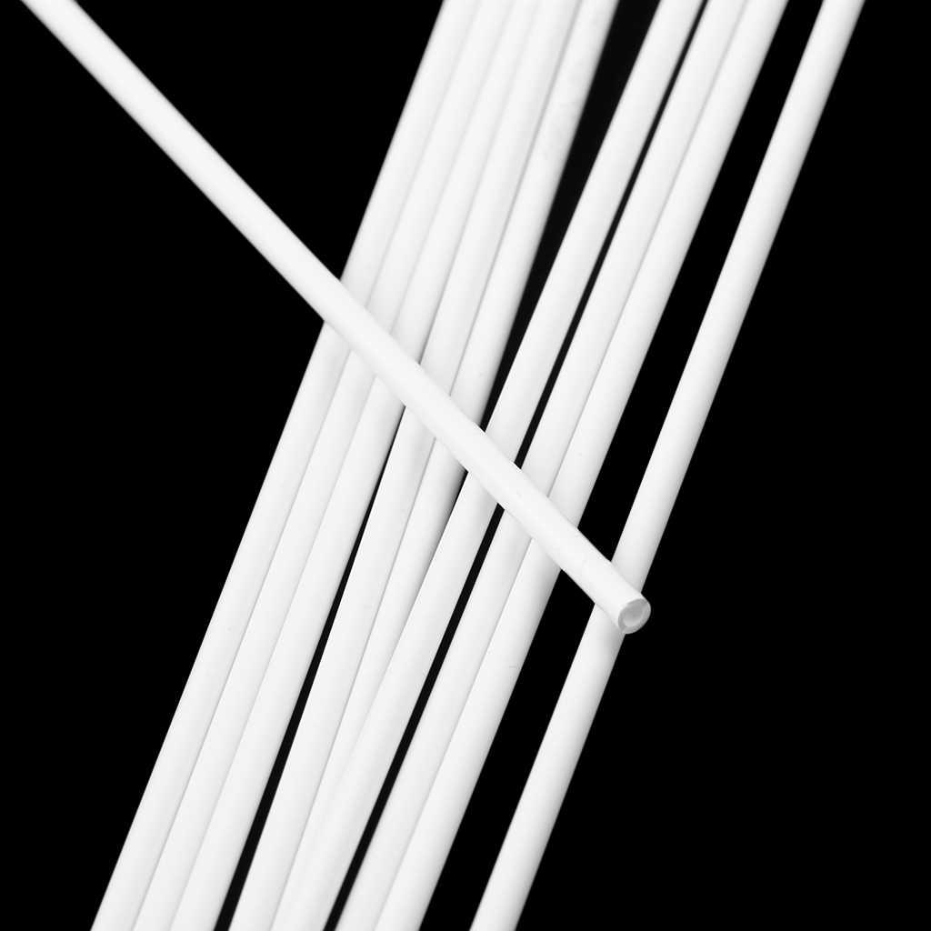 10 ชิ้น 250 มิลลิเมตรความยาว ABS พลาสติกรอบท่อสำหรับสถาปัตยกรรมชุดทำอาคาร DIY ตารางทรายวัสดุสีขาว