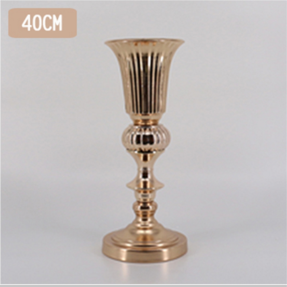 Vase Gold Us 28 44 50 Off Aliexpress Buy Gold Tabletop Vase Metal Flower Road Lead Wedding Table Centerpiece Flowers Vases For Marriage And Home