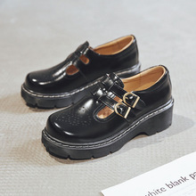 Qpfjqd plataforma alça t-strap, sapatos japoneses retrô lolita sapatos com calçados