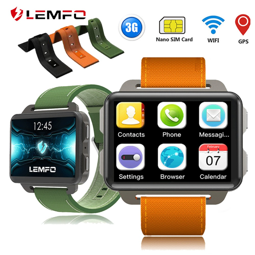 LEMFO LEM4 PRO Smart Watch Android 5 1 OS 1GB 16GB MTK6580 Support SIM Card GPS