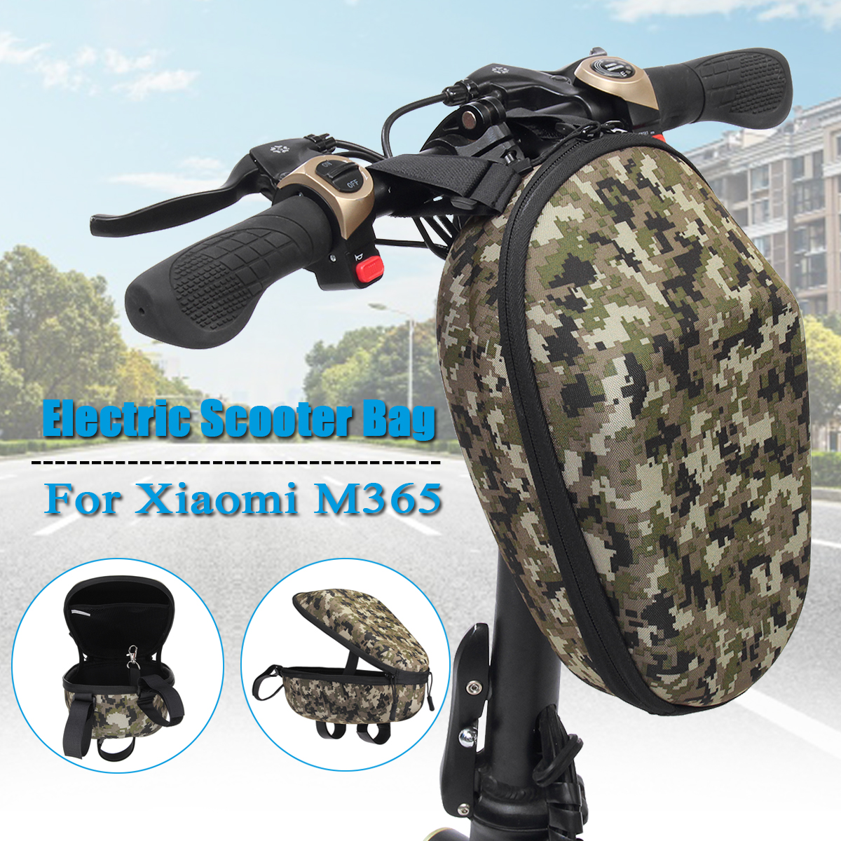 Universal Scooter Head Handle Bag Front Carry Bag for Xiaomi Mijia M365 Electric Scooter for Ninebot ES Skateboard Storage Bags