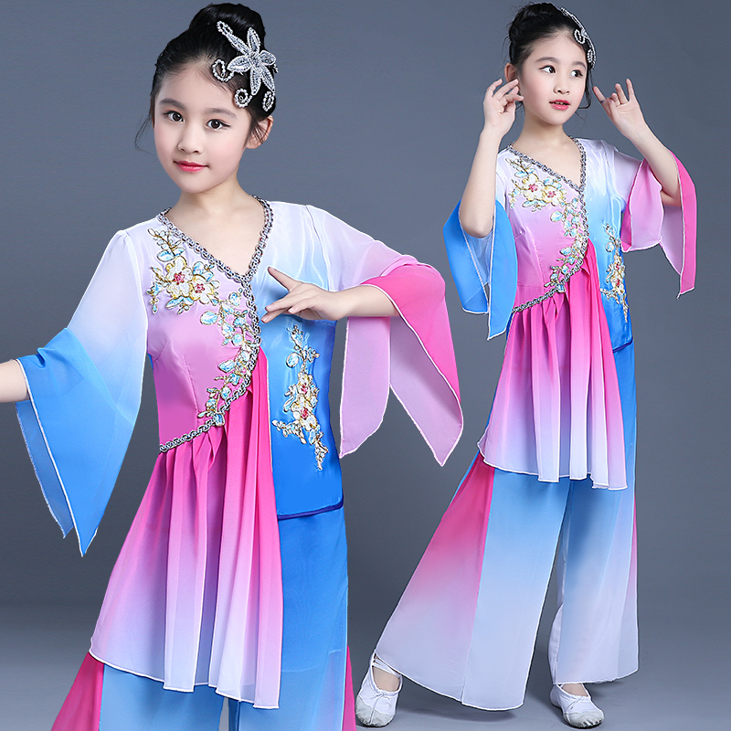 Chinese style new hanfu children classical dance costumes girls costume