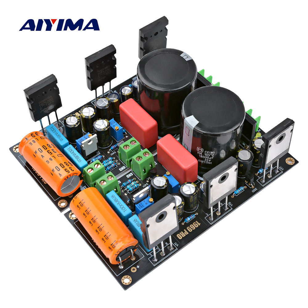 AIYIMA 1Pair 25W Hood 1969 Amplifier Audio Board 2SC5200 HD1969 Class A Power Amplifiers AMP With 1083 Voltage Regulator