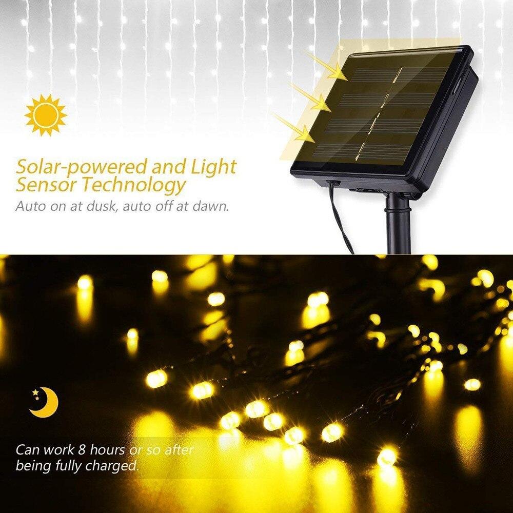 2X3M 204Leds cerca Solar powered Led Rede
