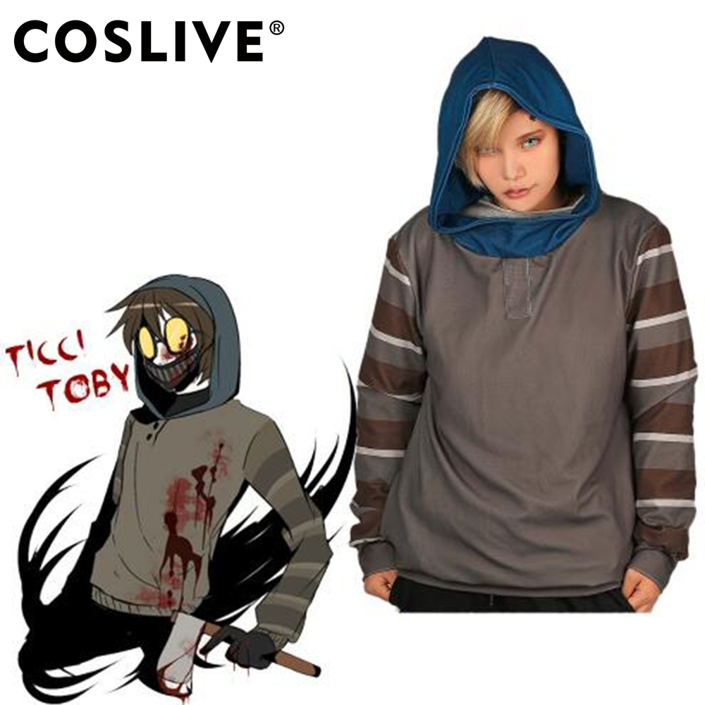 Ticci Toby Hoodie Pullover Sudadera Top Shirt COSplay Costume Coat - Disfraces