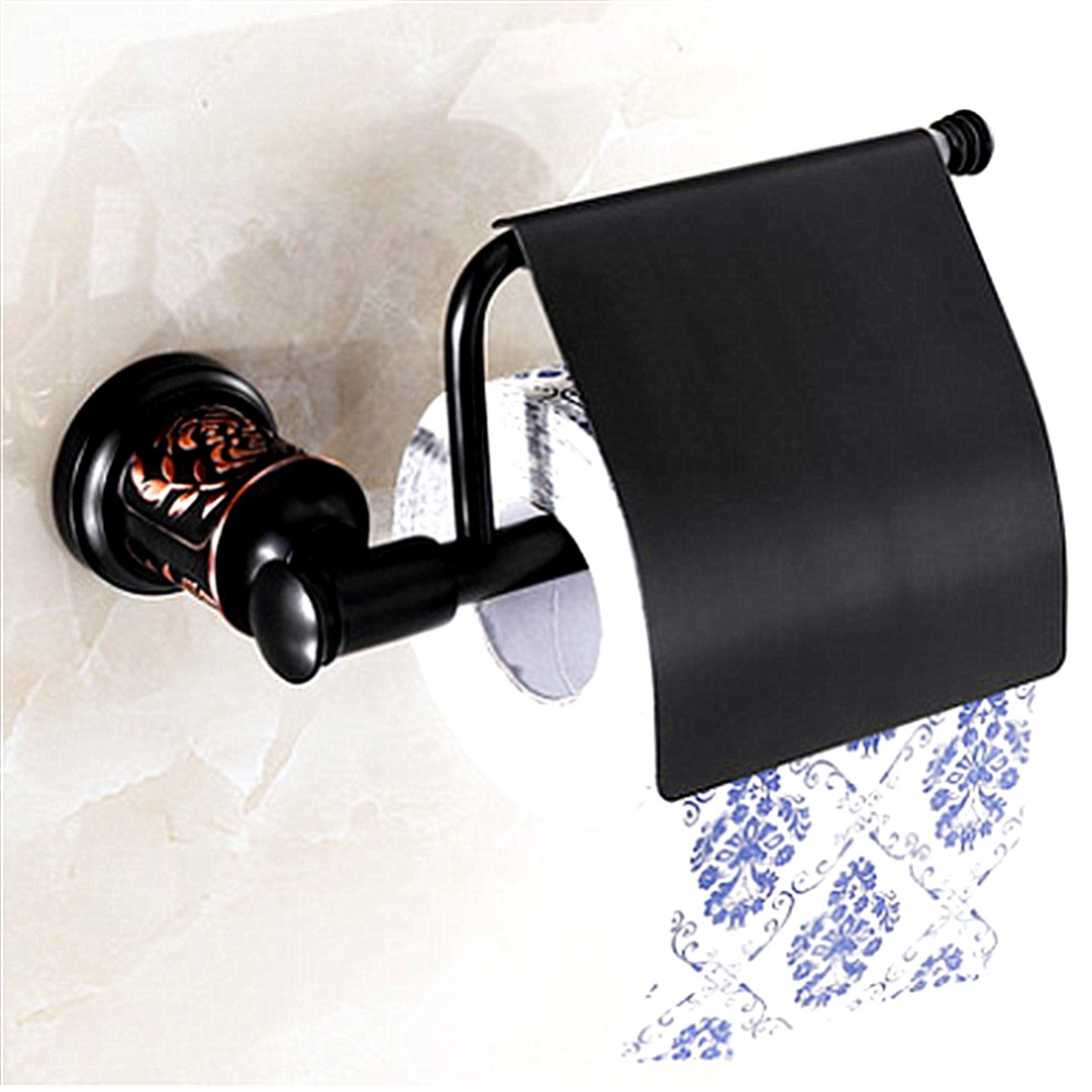 AUSWIND European Sliver Color Toilet Paper Holder Brass Polish Finished Tissue Holder Gold Carved Base Wall Mounted 81H1 oil rubbed bronze square toilet paper holder wall mounted paper basket holder