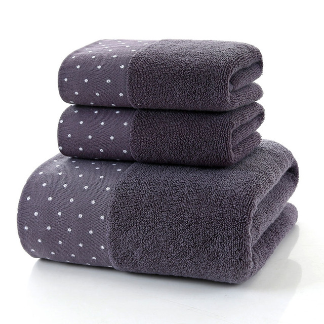Bath Dots Pattern Cotton Towel