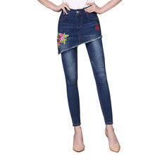 39747ae16ed Add to Wish List. Idopy Women`s Floral Jeans Emboridery Boho Vintage Flower  Skinny Stretchy Cute Plus Size S