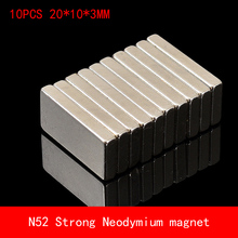 10pcs/lot square 20x10x3mm Super strong neo neodymium magnet NdFeB magnet 20mm x 10mm x 3mm magnets 5pcs 60x20x10mm super strong neo neodymium magnet 60x20x10 ndfeb magnet 60 20 10mm 60mm x 20mm x 10mm magnets 60 20 10