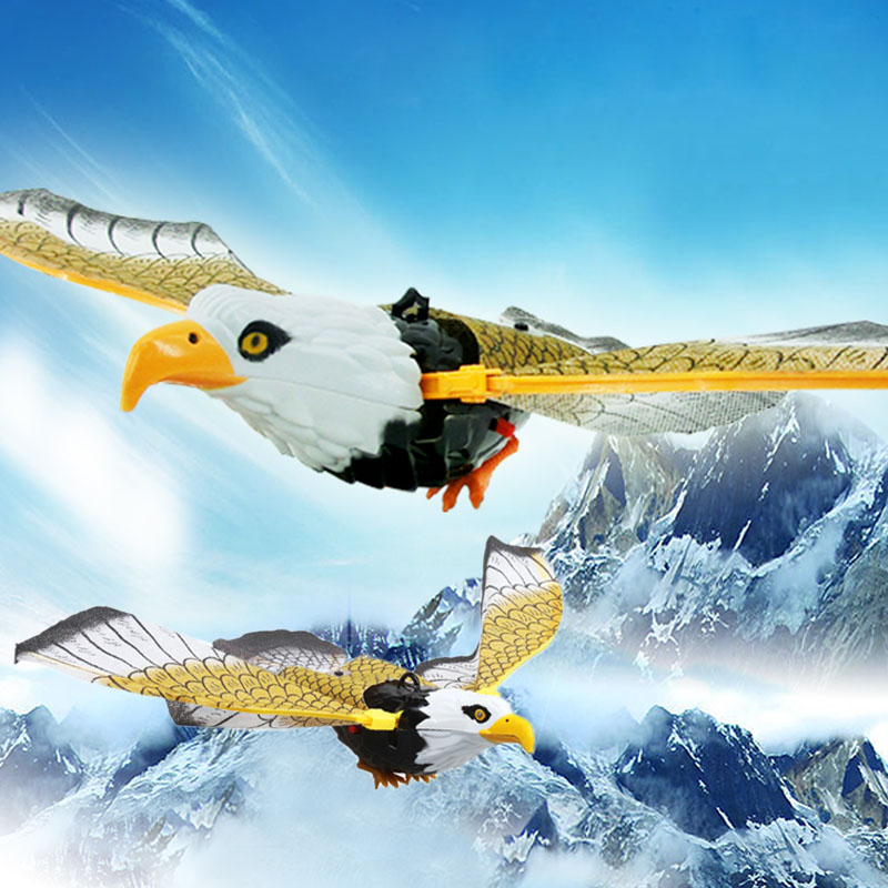 Реалистичная электрическая Птица орел имитация новые украшения домашний декор креативный звук крыло Летающий орел голос расправленные крылья подарок