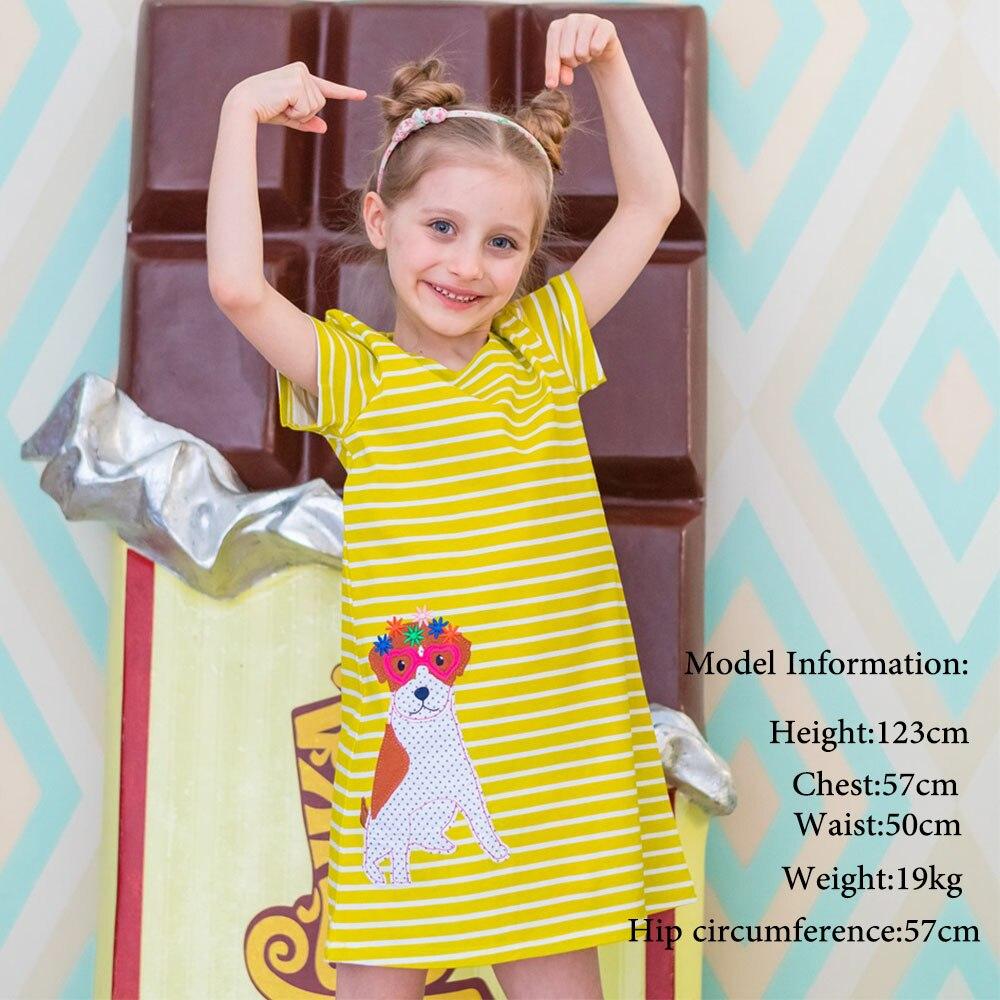 Kidsalon Mädchen Kleid mit Tier Appliques Baumwolle Vestidos Kinder Kleider für Mädchen Kostüm Prinzessin Kleid Sommer Baby Mädchen Kleidung