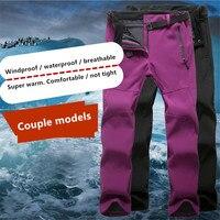 Trousers Men And Women Pants Waterproof Windproof Winter Warm Mountaineering Clothing Couple Breathable Fleece Trousers S