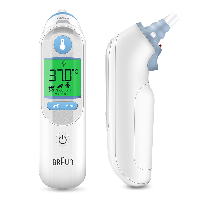 German Version Braun Luminous Thermometer IRT6520 Temperature Meter Precision Ear Thermometers Digital Monitors Baby Health Care