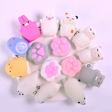 Cute Cat Squishy Antistress Toy For Fun Joke Squeeze Toy Soft Rising Cat Anti-Stress Funny Easter Presents Novelty Speelgoed(China)