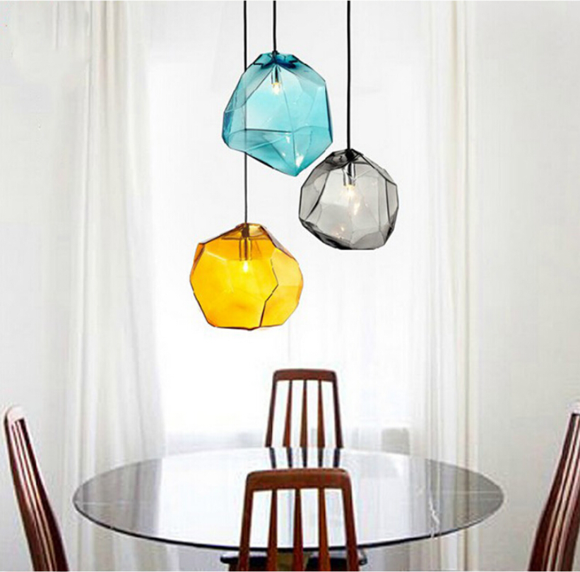 Modern Design Candy Color Ice Glass Hanging Lighting Ceiling Lamp Cafe Bar  Store Hall Dining Room Restaurant Pendant Light In Pendant Lights From  Lights ...