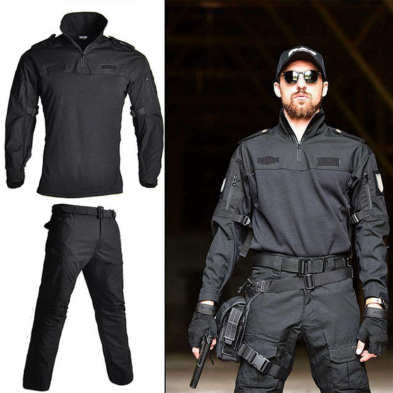 FG à manches longues Tactique Militaire Combat Uniforme Chemise + Pantalon NOUS Multicam Armée Militaire Vêtements Noir Camo Costume de Chasse vêtements