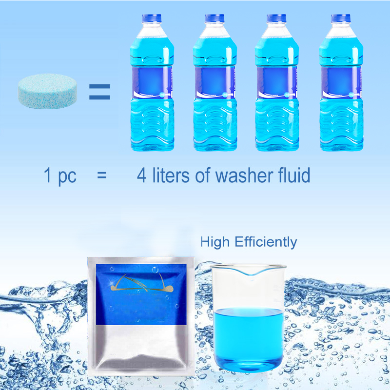 10 pieces Car Solid Cleaner Solid Washer Concentrate Making Up Windshield Washer Fluid Screen Wash Wiper Fluid(China)