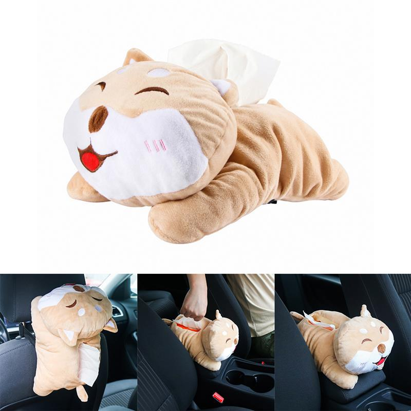 New Universal Car Armrest Box Tissue Box Funny Cartoon Cute Tissue Box Car Interior Products Car Accessories High Quality