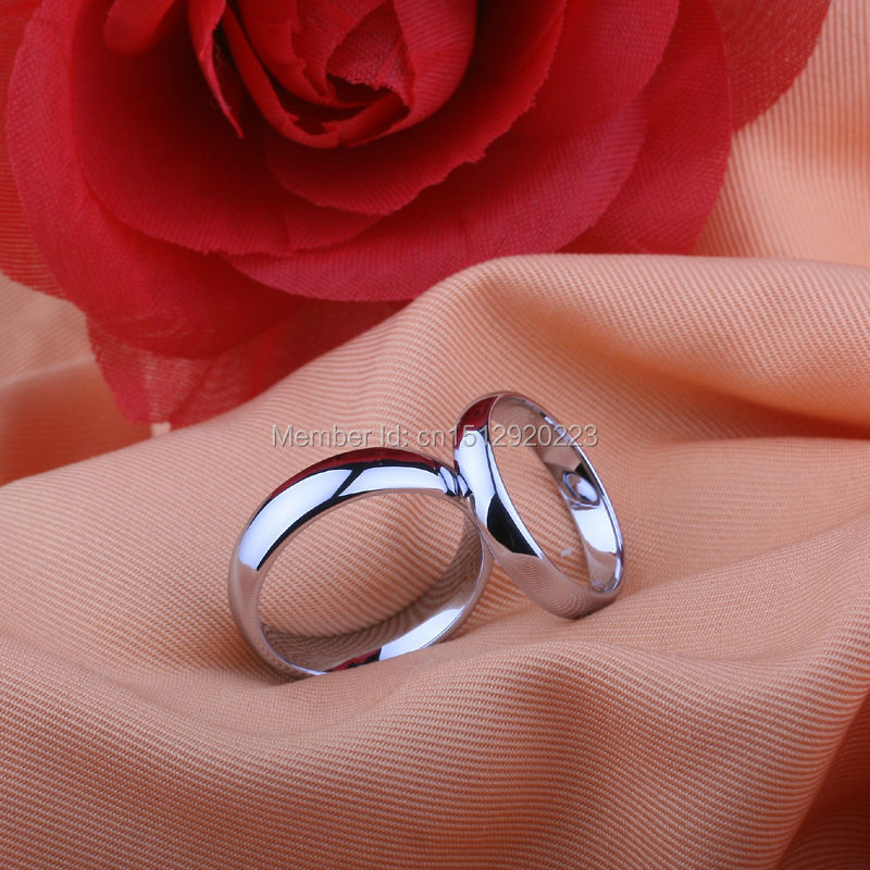 Classic Ring Simple Design Couples Rings Beautiful Tungsten ...