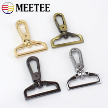 Meetee 38mm Metal Hook Carbiner Clasp Buckle Bronze for Dog Holder Bag Belt Keychain Hardware DIY Crafts Accessories E6-2
