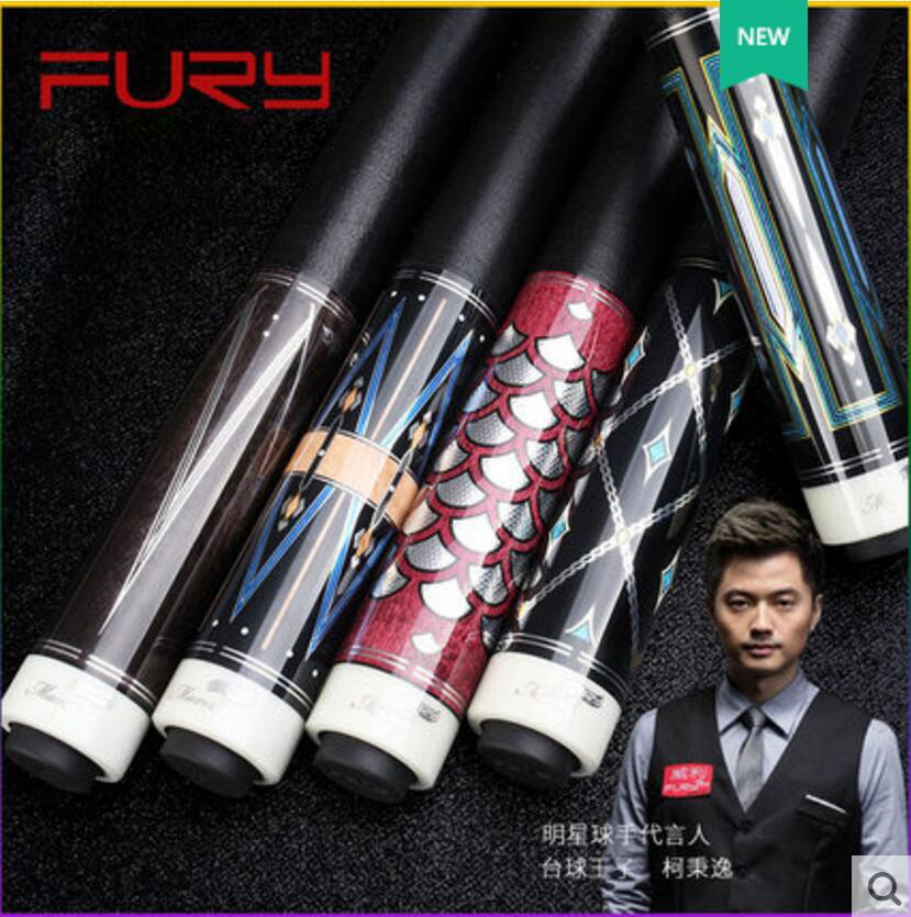 New FURY GC Series Billiard Pool Cue Stick Kit 13mm Tip Maple with Pool Cue Case Set Offer Combination Professional Billar 2019