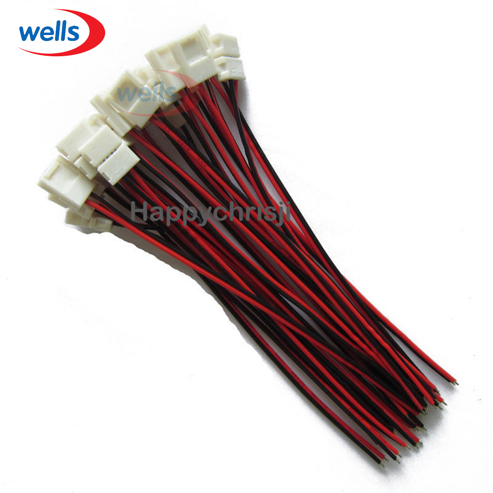 100pcs Lot 10mm 2pin Connector For 5050 Single Color Led Strip Board Wiring Pcb Wire