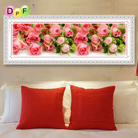 Diamond Painting Rose Flowers Bloom Diy Diamond Embroidery A Large Picture For The Bedroom Round Full