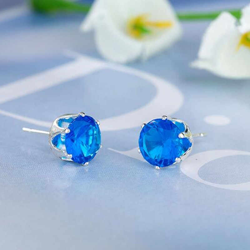 2017 Fashion simple jewelry Austrian crystal earrings female ultra-affordable good texture earrings for girls gifts