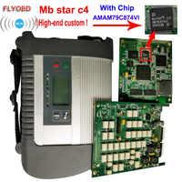 2019 najlepsza jakość mb gwiazda C4 z ADG426 i AM79C874VI wiórów MB gwiazda sd connect C4 Compact 4 narzędzie diagnostyczne z funkcją WIFI