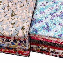 Diy toalha de mesa artesanato quilting handwork decoração algodão cetim bronzeado impressão reativa estilo japonês carpa sakura ameixa flor tecido
