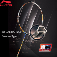 Li Ning 3D CALIBAR 200 Badminton Racket Ball Control Type LiNing Sports Single Racket No String AYPM394 ZYF307