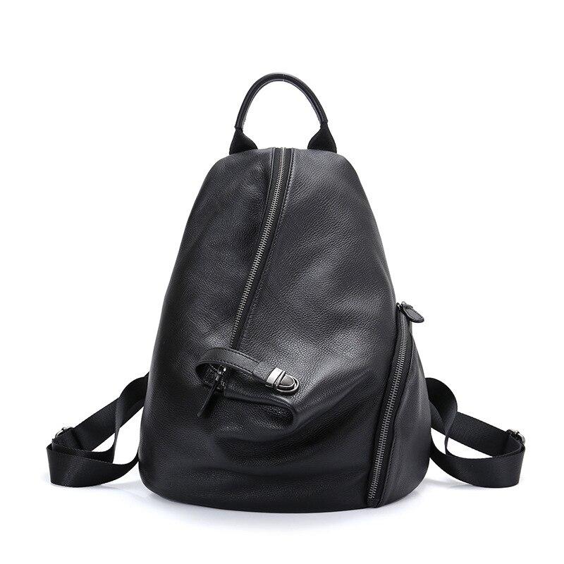 100% Genuine Leather Women Backpack Mini  Daily Casual Shoulder Bag Schoolbag Vintage Lady Knapsack High Quality