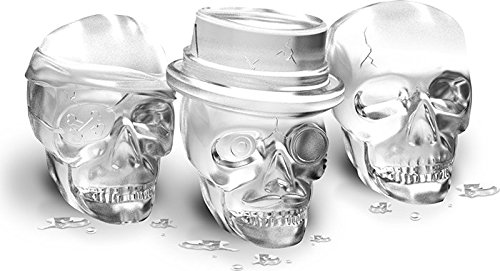 Free Shipping Skull Ice Molds Cocktails Set of 3 Halloween Party Spooky Fun Bar Tool Bar