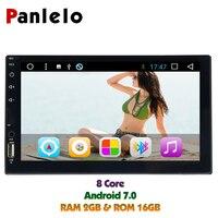 Новая горячая продукция !!! Panlelo 2 Din Автомагнитолы gps Android автомобилей мультимедиа 7 Сенсорный экран 1024*600 видео плеер Восьмиядерный 1,6 ГГц 2G16G