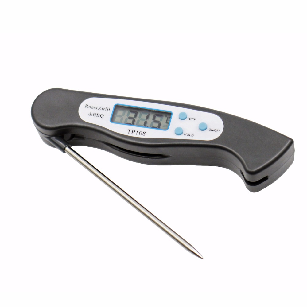 Foldable Digital Oven Thermometer Bbq Folding Meat Food Probe Kitchen Thermometer Liquid Water Oil Cooking Tools Temperature Gauges