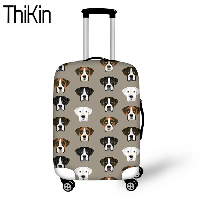 THIKIN Case Covers For Luggage Travel Accessories Boxer Dog 3D Printing Elastic Trolley Case Cover Dustproof Suitcase Protective