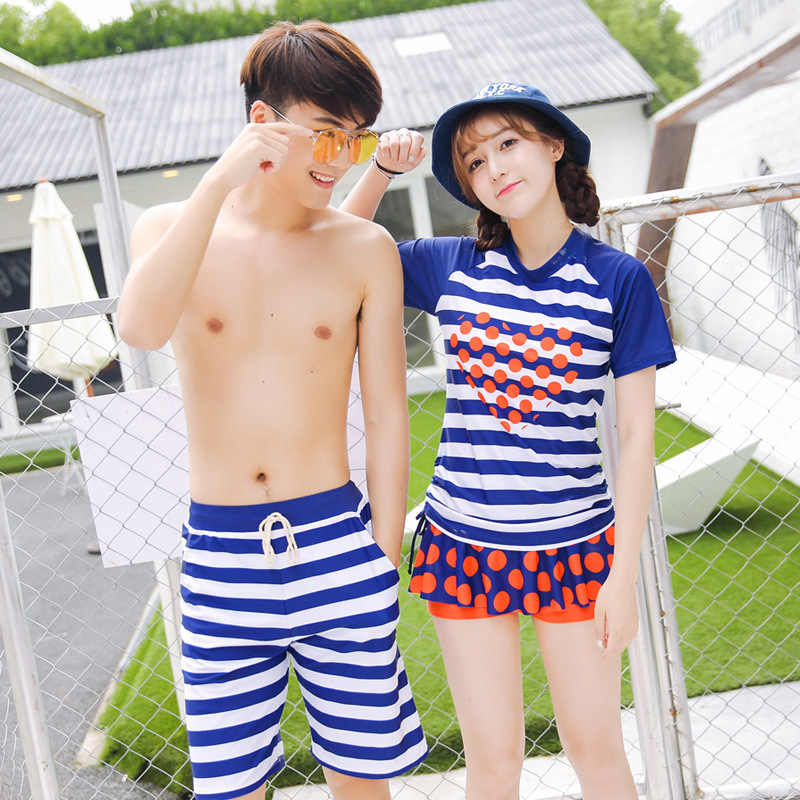 a6a06db0c1 ... Mother and Daughter Swimsuit Father and Son Matching Clothes Family  Clothing Couple Matching Swimsuit Girl Swimwear ...