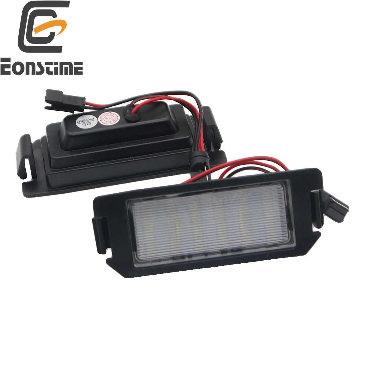Eonstime 2x 18SMD éclairage de plaque d'immatriculation LED pour Hyundai I10 I20 tiburon coupé Veloster FS XG30 terran HP Kia Rio Picanto TA Soul