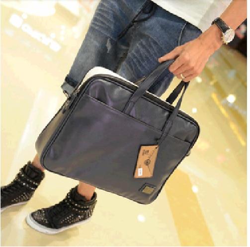 New 2014 commercial men handbag fashion shoulder bag casual messenger bags document laptop handbags
