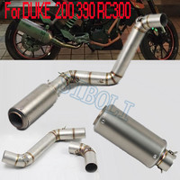 For KTM Duke 200 KTM390 KTM RC300 Full Exhaust Pipe Titanium Color Muffler System Motorcycle With DB Killer KT001