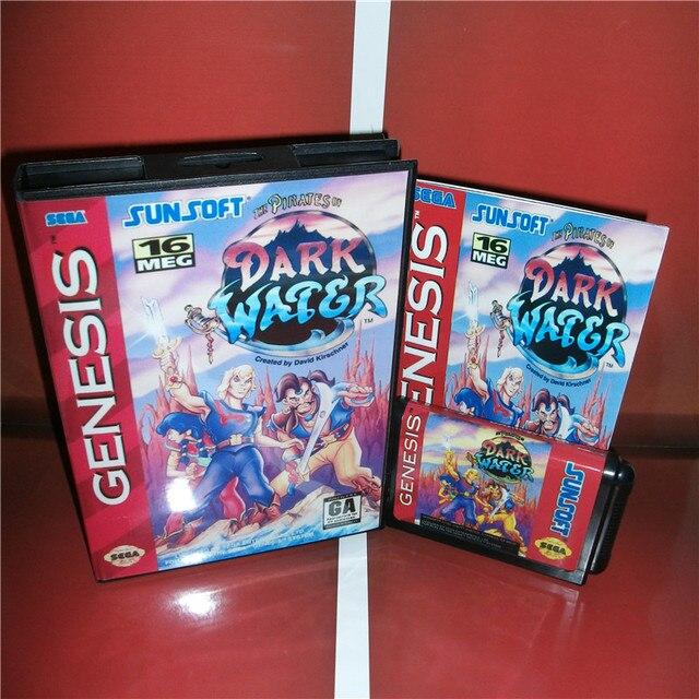dark water us cover with box and manual for sega megadrive genesis rh aliexpress com Video Game Manual Art Video Game Manuals for Sale